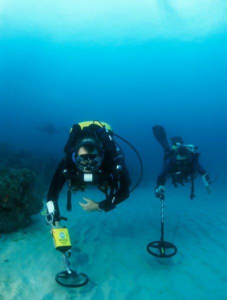металлоискатель под водой