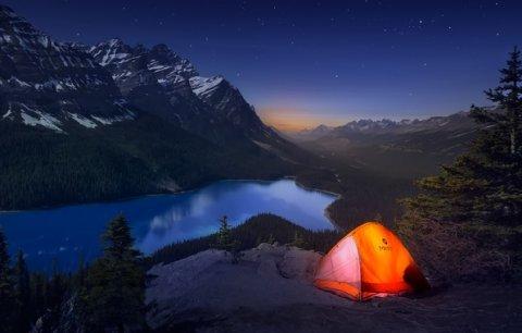 горы палатка